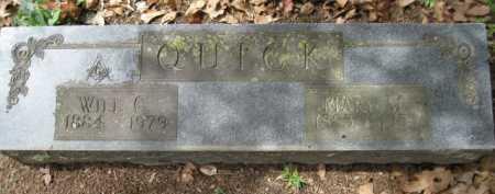 QUICK, WILL C - Logan County, Arkansas | WILL C QUICK - Arkansas Gravestone Photos