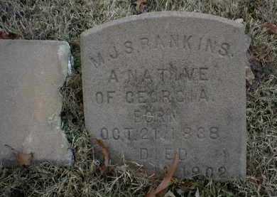 RANKINS  (VETERAN CSA), M J  S - Logan County, Arkansas   M J  S RANKINS  (VETERAN CSA) - Arkansas Gravestone Photos