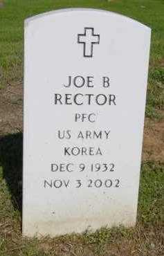 RECTOR (VETERAN KOR), JOE B - Logan County, Arkansas | JOE B RECTOR (VETERAN KOR) - Arkansas Gravestone Photos