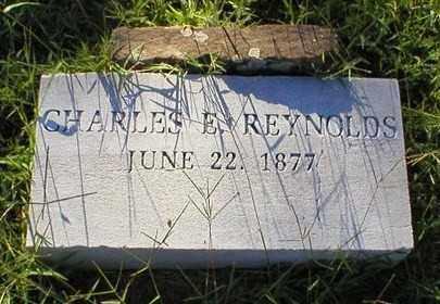REYNOLDS, CHARLES E. - Logan County, Arkansas | CHARLES E. REYNOLDS - Arkansas Gravestone Photos