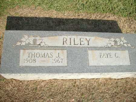 RILEY, THOMAS J. - Logan County, Arkansas   THOMAS J. RILEY - Arkansas Gravestone Photos