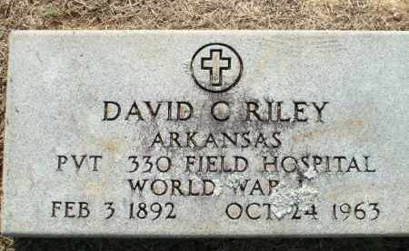 RILEY (VETERAN WWI), DAVID C - Logan County, Arkansas | DAVID C RILEY (VETERAN WWI) - Arkansas Gravestone Photos