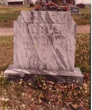 DEARMORE RITCHIE, AMANDA - Logan County, Arkansas | AMANDA DEARMORE RITCHIE - Arkansas Gravestone Photos