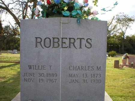 ROBERTS, CHARLES M. - Logan County, Arkansas   CHARLES M. ROBERTS - Arkansas Gravestone Photos