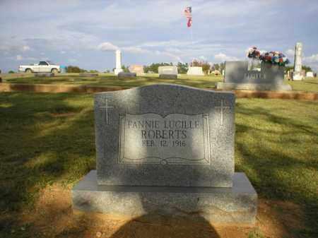 ROBERTS, FANNIE LUCINDA - Logan County, Arkansas | FANNIE LUCINDA ROBERTS - Arkansas Gravestone Photos