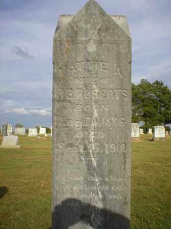 ROBERTS, MATTIE A. - Logan County, Arkansas | MATTIE A. ROBERTS - Arkansas Gravestone Photos