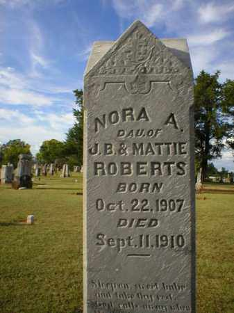 ROBERTS, NORA A. - Logan County, Arkansas | NORA A. ROBERTS - Arkansas Gravestone Photos