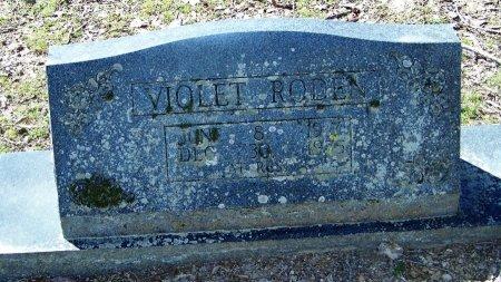 WHITECOTTON RODEN, VIOLET GENEVA - Logan County, Arkansas | VIOLET GENEVA WHITECOTTON RODEN - Arkansas Gravestone Photos