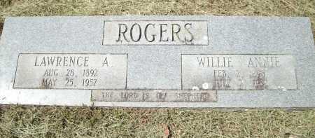 ROGERS, WILLIE ANNIE - Logan County, Arkansas | WILLIE ANNIE ROGERS - Arkansas Gravestone Photos