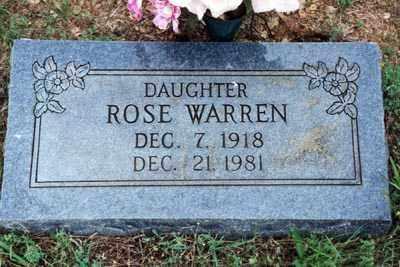 ROSE, WARREN - Logan County, Arkansas | WARREN ROSE - Arkansas Gravestone Photos