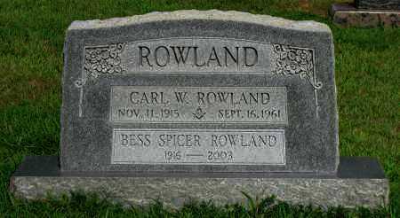 ROWLAND, BESS SPICER - Logan County, Arkansas | BESS SPICER ROWLAND - Arkansas Gravestone Photos