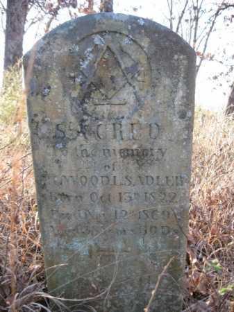 SADLER, ELWOOD - Logan County, Arkansas | ELWOOD SADLER - Arkansas Gravestone Photos