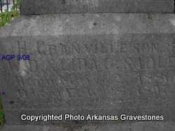 SADLER, H GRANVILLE ( 2ND. STONE) - Logan County, Arkansas   H GRANVILLE ( 2ND. STONE) SADLER - Arkansas Gravestone Photos