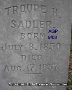 SADLER, TROUPE H - Logan County, Arkansas | TROUPE H SADLER - Arkansas Gravestone Photos