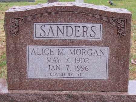 SANDERS, ALICE M. - Logan County, Arkansas   ALICE M. SANDERS - Arkansas Gravestone Photos