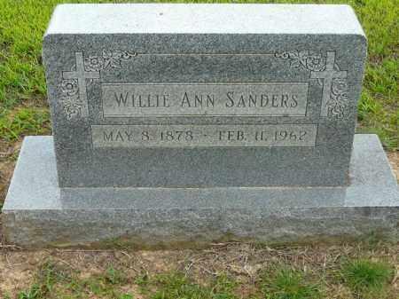SANDERS, WILLIE ANN - Logan County, Arkansas   WILLIE ANN SANDERS - Arkansas Gravestone Photos