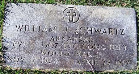 SCHWARTZ (VETERAN WWII), WILLIAM J - Logan County, Arkansas   WILLIAM J SCHWARTZ (VETERAN WWII) - Arkansas Gravestone Photos