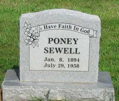 SEWELL, PONEY - Logan County, Arkansas   PONEY SEWELL - Arkansas Gravestone Photos