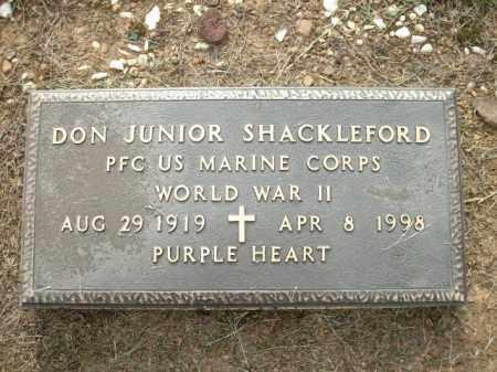 SHACKLEFORD, JR. (VETERAN WWII, DONNELL - Logan County, Arkansas   DONNELL SHACKLEFORD, JR. (VETERAN WWII - Arkansas Gravestone Photos
