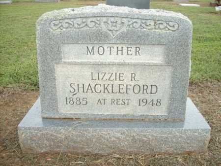 SHACKLEFORD, LIZZIE R. - Logan County, Arkansas | LIZZIE R. SHACKLEFORD - Arkansas Gravestone Photos