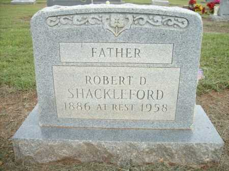 SHACKLEFORD, ROBERT D. - Logan County, Arkansas | ROBERT D. SHACKLEFORD - Arkansas Gravestone Photos
