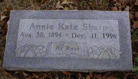 SHARP, ANNIE KATE - Logan County, Arkansas | ANNIE KATE SHARP - Arkansas Gravestone Photos