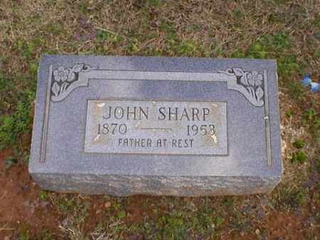 SHARP, JOHN - Logan County, Arkansas | JOHN SHARP - Arkansas Gravestone Photos