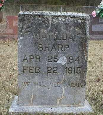 SHARP, MATILDA - Logan County, Arkansas   MATILDA SHARP - Arkansas Gravestone Photos