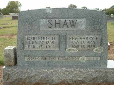 SHAW, GERTRUDE D. - Logan County, Arkansas | GERTRUDE D. SHAW - Arkansas Gravestone Photos