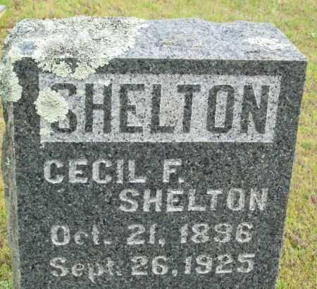 SHELTON, CECIL F. - Logan County, Arkansas | CECIL F. SHELTON - Arkansas Gravestone Photos