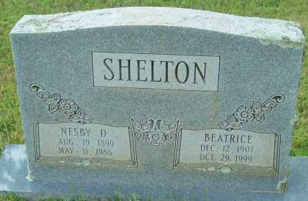 SHELTON, NESBY D. - Logan County, Arkansas | NESBY D. SHELTON - Arkansas Gravestone Photos