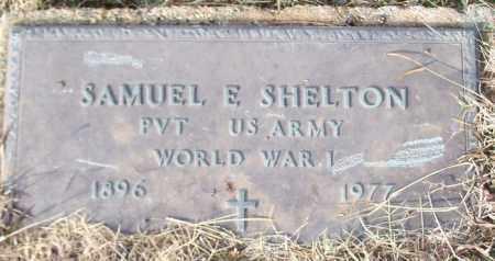 SHELTON (VETERAN WWI), SAMUEL E - Logan County, Arkansas | SAMUEL E SHELTON (VETERAN WWI) - Arkansas Gravestone Photos