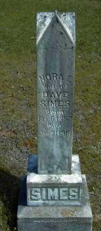SIMES, NORA ELIZABETH - Logan County, Arkansas | NORA ELIZABETH SIMES - Arkansas Gravestone Photos