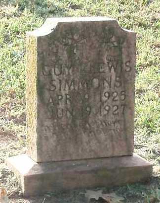 SIMMONS, GUY LEWIS - Logan County, Arkansas | GUY LEWIS SIMMONS - Arkansas Gravestone Photos
