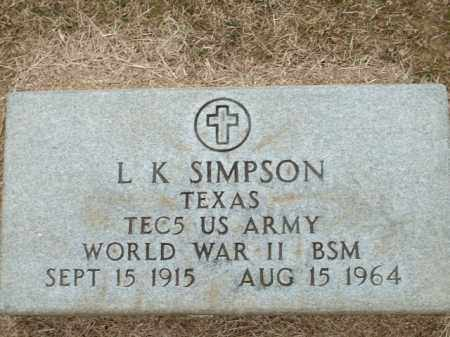 SIMPSON (VETERAN WWII), L K - Logan County, Arkansas | L K SIMPSON (VETERAN WWII) - Arkansas Gravestone Photos