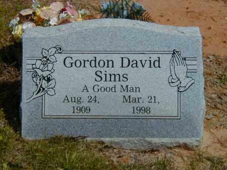 SIMS, GORDON DAVID - Logan County, Arkansas   GORDON DAVID SIMS - Arkansas Gravestone Photos