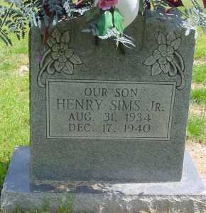 SIMS, JR., HENRY - Logan County, Arkansas | HENRY SIMS, JR. - Arkansas Gravestone Photos