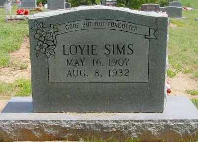 SIMS, LOYIE - Logan County, Arkansas | LOYIE SIMS - Arkansas Gravestone Photos