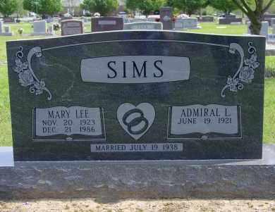 SIMS, MARY LEE - Logan County, Arkansas | MARY LEE SIMS - Arkansas Gravestone Photos