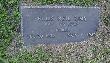 SIMS (VETERAN KOR), EULIS NEIL - Logan County, Arkansas   EULIS NEIL SIMS (VETERAN KOR) - Arkansas Gravestone Photos