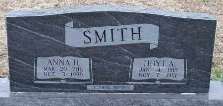 SMITH, ANNA H - Logan County, Arkansas | ANNA H SMITH - Arkansas Gravestone Photos