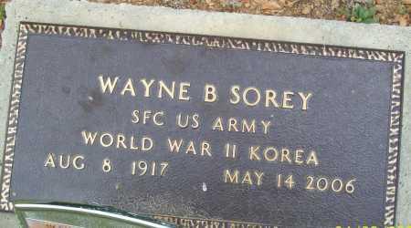 SOREY (VETERAN 2 WARS), WAYNE B - Logan County, Arkansas | WAYNE B SOREY (VETERAN 2 WARS) - Arkansas Gravestone Photos