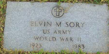 SORY (VETERAN WWII), ELVIN M - Logan County, Arkansas   ELVIN M SORY (VETERAN WWII) - Arkansas Gravestone Photos