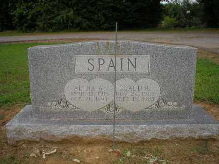 SPAIN, ALTHA - Logan County, Arkansas | ALTHA SPAIN - Arkansas Gravestone Photos