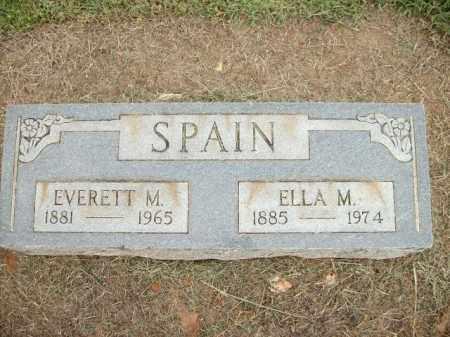 SPAIN, EVERTT M. - Logan County, Arkansas | EVERTT M. SPAIN - Arkansas Gravestone Photos