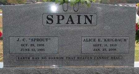 "SPAIN, J.C. ""SPROUT"" - Logan County, Arkansas 