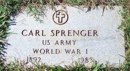 SPRENGER (VETERAN WWI), CARL - Logan County, Arkansas | CARL SPRENGER (VETERAN WWI) - Arkansas Gravestone Photos