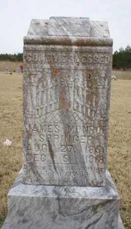 SPRINGER, JAMES MONROE - Logan County, Arkansas   JAMES MONROE SPRINGER - Arkansas Gravestone Photos