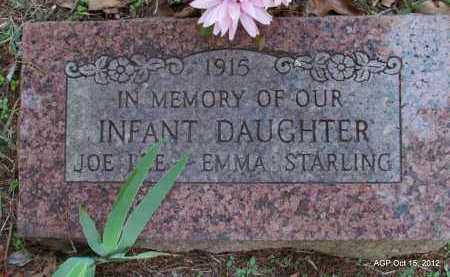 STARLING, INFANT DAUGHTER - Logan County, Arkansas   INFANT DAUGHTER STARLING - Arkansas Gravestone Photos
