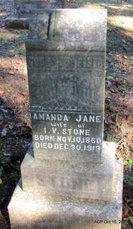 STONE, AMANDA JANE - Logan County, Arkansas | AMANDA JANE STONE - Arkansas Gravestone Photos
